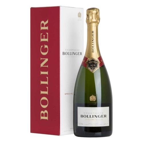 BOLLINGER Special Cuvée - 85%-ba Grand Cru és Premier Cru területekről szelektált 60% Pinot Noir, 25% Chardonnay, 15% Pinot Meunier házasítása.