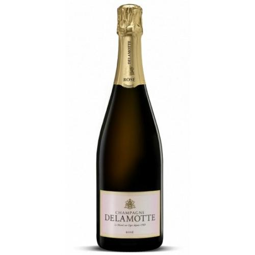 DELAMOTTE Rosé - Champagne Franciaország - Pinot Noir a Montage de Reims Grand Cru területeiről származik, Ambonnay, Bouzy és Tour-sur-Marne. - Pezsgő